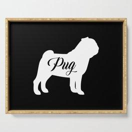 Pug Serving Tray