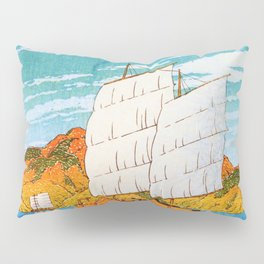 A Boat Laden With Stones, Bingo, Views Of Japanese Scenery - Digital Remastered Edition Pillow Sham