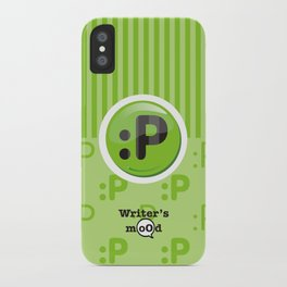 Green Writer's Mood iPhone Case