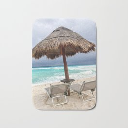 Cancun beach, Mexico Bath Mat