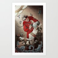dentist Art Prints featuring The Dentist by Ryan Smith