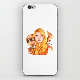 """Element Girls Drawing - """"Fire"""" iPhone Skin"""