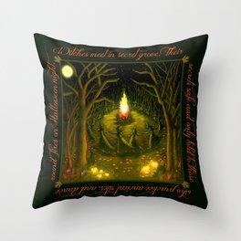 Halloween Bonfire Throw Pillow