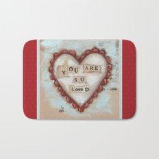 So Loved - by Diane Duda Bath Mat