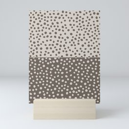 Polka Dots design Beige and Brown, Gallery Wall Boho Large Poster Mini Art Print