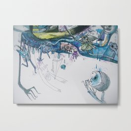 She gobbles her way through nightmares Metal Print