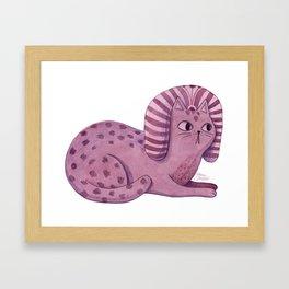 Purple Sphynx Framed Art Print