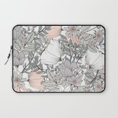 Seamless pattern design with hand drawn flowers and floral elements Laptop Sleeve