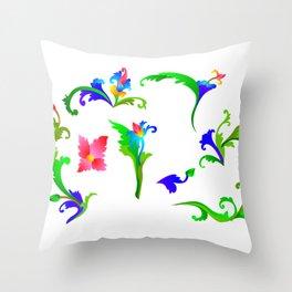 Floral Patterned Batik Pillow Case Throw Pillow