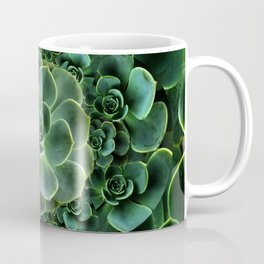 ORNATE JADE & DARK GREEN SUCCULENT  GARDEN Coffee Mug