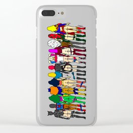 Superhero Butts - Girls - Row Version - Superheroine Clear iPhone Case