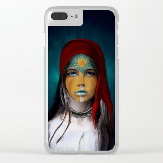 Chalchiuhtlicue Clear iPhone Case
