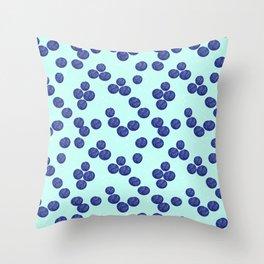 Blueberry Splash Throw Pillow
