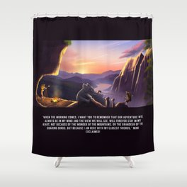 The Great Mountains of Mummsley Heath Shower Curtain
