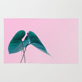 Pink Plant Rug
