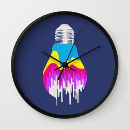 Colors of Light Wall Clock