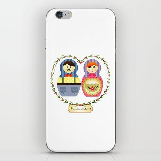 I {❤} Matryoshka iPhone & iPod Skin