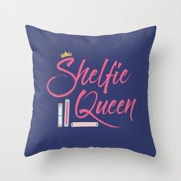 Booklover Shelfie Queen Throw Pillow