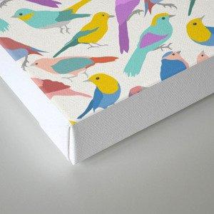 Dazzling Colored Bird Pattern Canvas Print