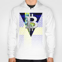 sweden Hoodies featuring bitcoin sweden by seb mcnulty
