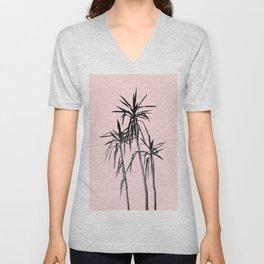 Palm Trees - Blush Cali Summer Vibes #1 #decor #art #society6 Unisex V-Neck