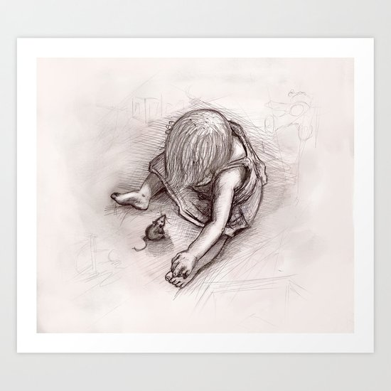 Ruby and the Rat Art Print