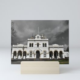 Clunes Town Hall Dramatic Mini Art Print