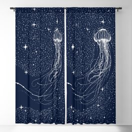 starry jellyfish Blackout Curtain