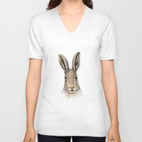 hare V-neck T-shirts featuring Hare by natlovesrooby