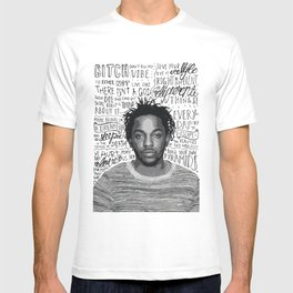 Kendrick Lamar quote print / poster hand drawn type / typography T-shirt