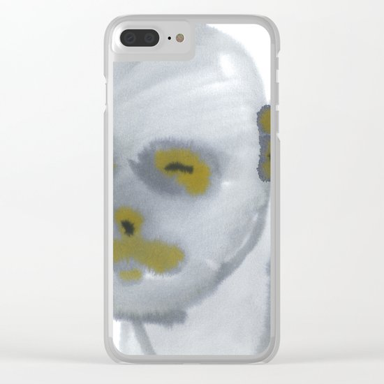 grey scale Clear iPhone Case