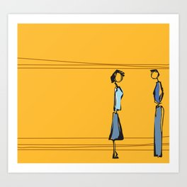 Woman and Man in Utah Art Print