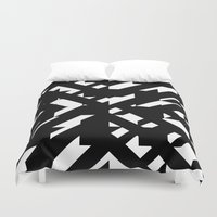the hound Duvet Covers featuring Shattered Hound by Martin Isaac