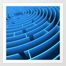 Circle Maze Art Print