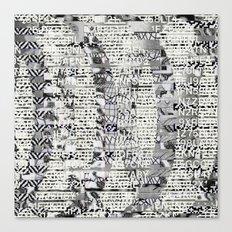 The Eternal Return Of The Unique Event (P/D3 Glitch Collage Studies) Canvas Print