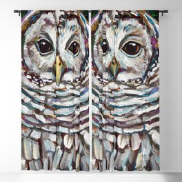 Artemis the Barred Owl Blackout Curtain