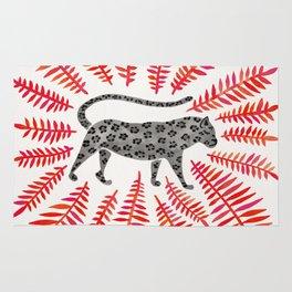 Black Jaguar – Red Leaf Palette Rug