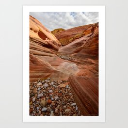 After the Rain - 4, Valley_of_Fire Canyon, Nevada Art Print