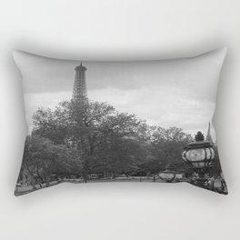 Eifel Tower with light post Rectangular Pillow