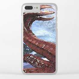 Worm monster - 世界 探索 游戏 Clear iPhone Case