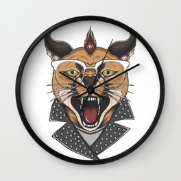 Metall lion Wall Clock