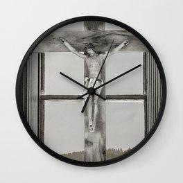 Christ on the cross Wall Clock