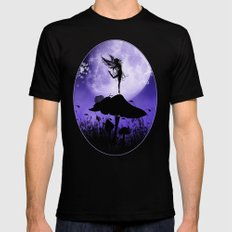 Fairy Silhouette 2 Black SMALL Mens Fitted Tee