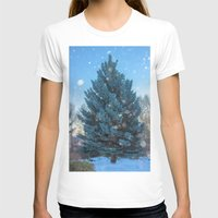 christmas tree T-shirts featuring Christmas tree  by Svetlana Korneliuk