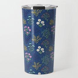 Dark Meadow Floral Travel Mug