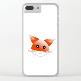 animal image fox Clear iPhone Case