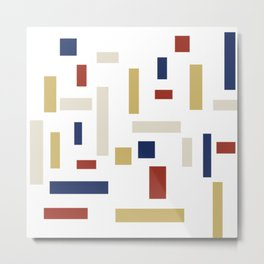 Abstract Theo van Doesburg Composition VIII (White) The Three Graces Metal Print