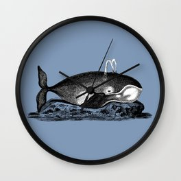 Ink Whale Wall Clock