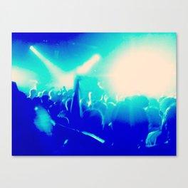 Blue Lights on People Canvas Print