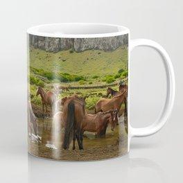 Wild horses on Easter Island Coffee Mug